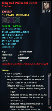 Tempered Darkmetal Etched Blocker