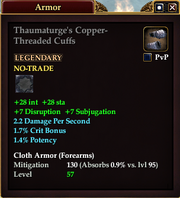 Thaumaturge's Copper-Threaded Cuffs