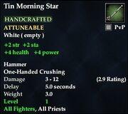 Tin Morning Star
