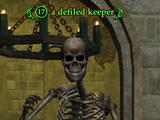 A defiled keeper