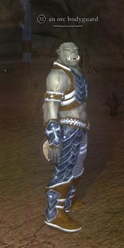 An orc bodyguard