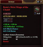 Brute's Wrist Wraps of the Citadel