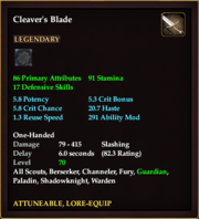 Cleaver's Blade
