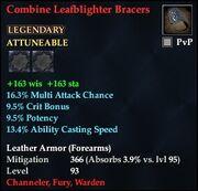 Combine Leafblighter Bracers
