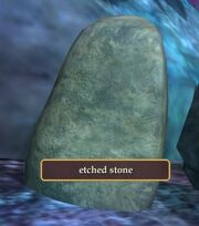 Etched stone