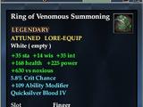 Ring of Venomous Summoning