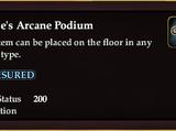 Scribe's Arcane Podium