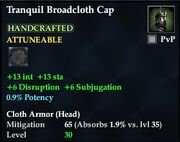 Tranquil Broadcloth Cap