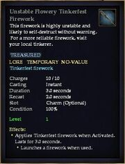 Unstable Flowery Tinkerfest Firework