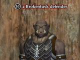 A Brokentusk defender