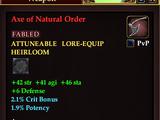 Axe of Natural Order