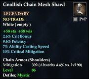 Gnollish Chain Mesh Shawl