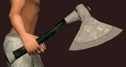 Imbued Iron Assault Axe (Equipped)