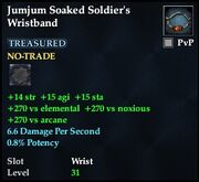 Jumjum Soaked Soldier's Wristband