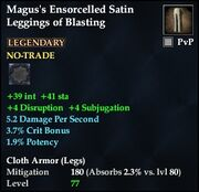 Magus's Ensorcelled Satin Leggings of Blasting