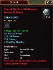 Round Shield of Malformed Werewolf Bones