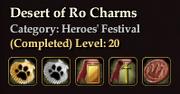 Desert of Ro Charms