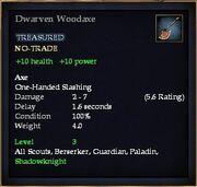 Dwarven Woodaxe