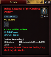 Etched Leggings of the Circling Destiny