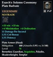 Exarch's Solemn Ceremony Plate Barbute