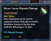 Focus- Lesser Riposte Damage