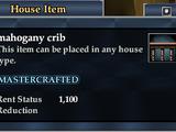 Mahogany crib