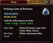 Pulsing Gem of Prowess