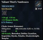 Valiant Thief's Vambraces