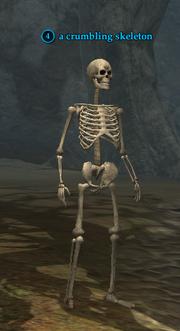 A crumbling skeleton