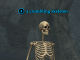 A crumbling skeleton