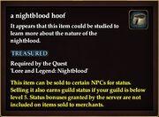 A nightblood hoof