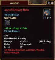 Axe of Kejekan Hero