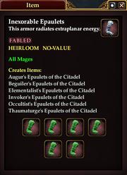 Inexorable Epaulets