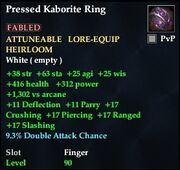 Pressed Kaborite Ring