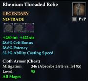 Rhenium Threaded Robe