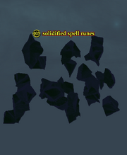 Solidified spell runes