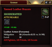 Tanned Leather Bracers