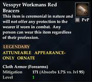 Vesspyr Workmans Red Bracers