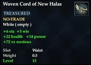 Woven Cord of New Halas