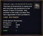 Dismal rage ceremonial bracers