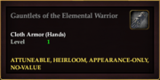 Gauntlets of the Elemental Warrior