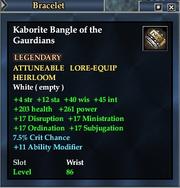 Kaborite Bangle of the Gaurdians