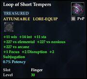 Loop of Short Tempers