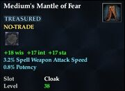 Medium's Mantle of Fear