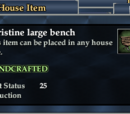 A pristine large bench