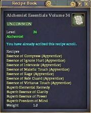 Alchemist Essentials Volume 34