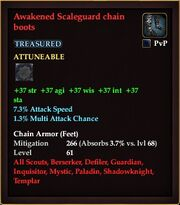 Awakened Scaleguard chain boots