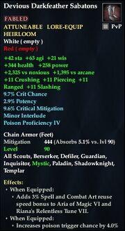 Devious Darkfeather Sabatons