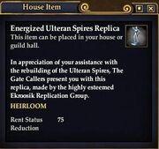 Energized Ulteran Spires Replica