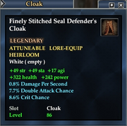 Finely Stitched Seal Defender's Cloak